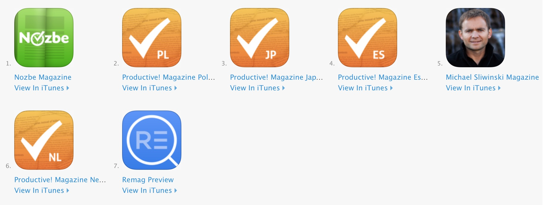 Apps published with Remag
